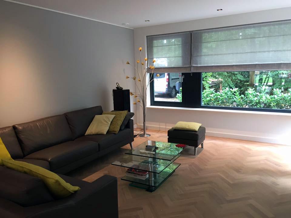 Project Soest woonkamer Leolux hoekbank
